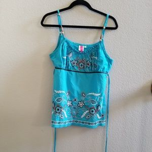 Heart Soul Embroidered Tank Top